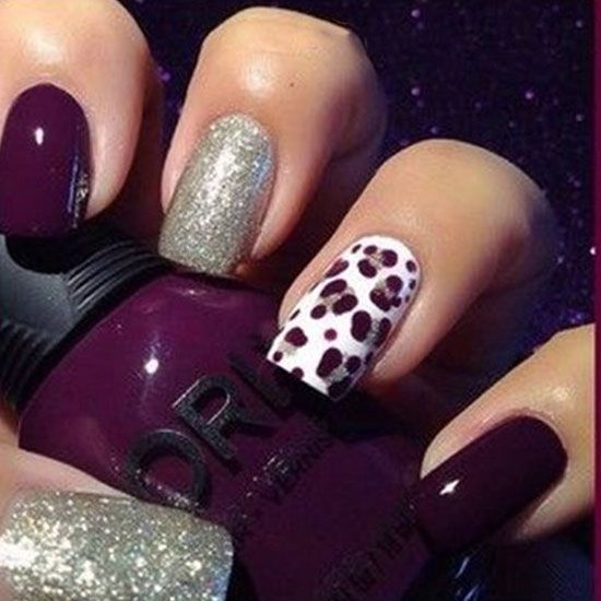 30 Dark Purple Nail Designs 2015 #darkpurplenails #nailartdesigns2015 #nailideas