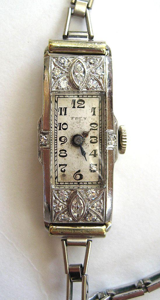Antique diamond time teller