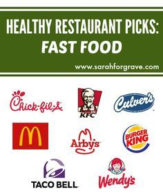 Looking for healthy menu options? Check out these recommended picks at 8 popular fast-food restaurants, including McDonald's, Taco Bell, and Wendy's. | www.sarahforgrave.com