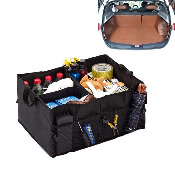 Big Black Car Seat Organizer Travel Storage for Ipad, Books, Tools, Toys, Drinks #Unbranded