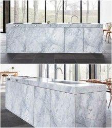 Marzua: Cocina de mármol de Carrara, por Jonas Lindvall