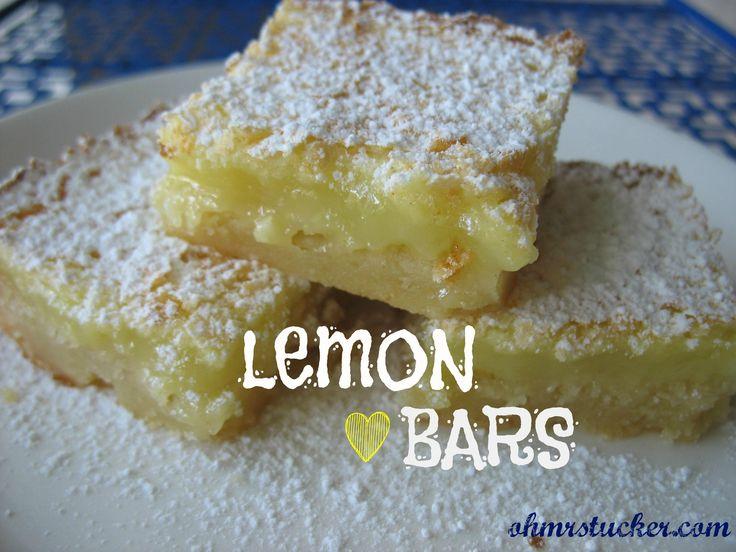 So easy, elegant and delicious.  Not Chocolate Cake Lemon Bars