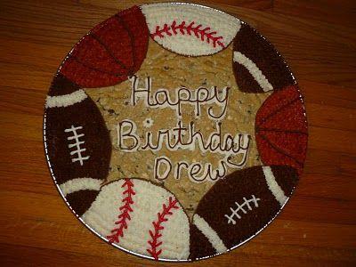 Sport Ball Cookie Cake