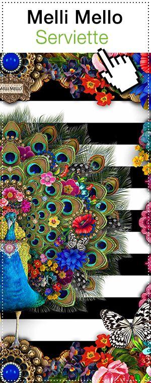 Melli Mello kombiniert in den Designs verschiedene Kulturen und Stile miteinander. Das spiegelt sich auch in den Servietten wieder. Bunte, flippige Gestaltungsmöglichkeiten für Ihre Tischdekoration!  #Servietten #MelliMello #bunt #Vogel #Blumen #Farbe #Tischdekoration #Style #Gestaltung