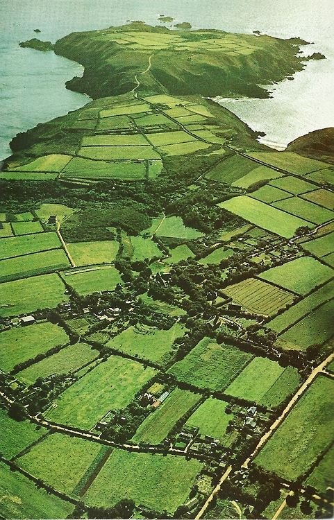 Sark, Channel Islands, Britain National Geographic | May 1971What a beautiful patchwork countryside.