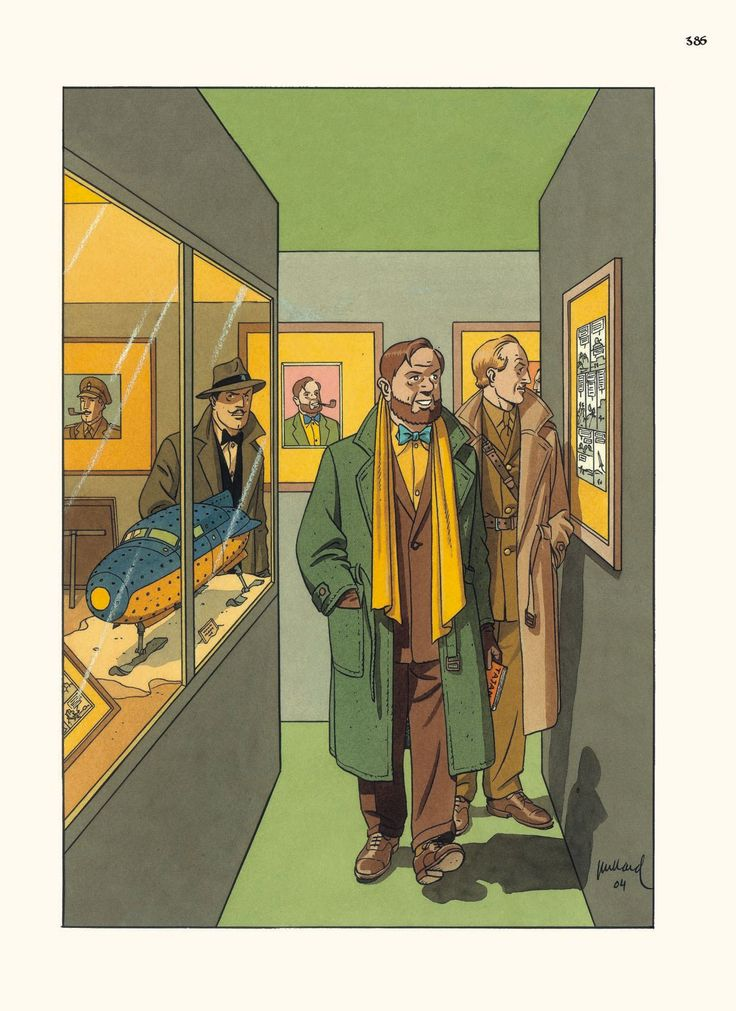 Blake et Mortimer - Dessin original destiné à la couverture d'un catalogue de vente aux enchères.