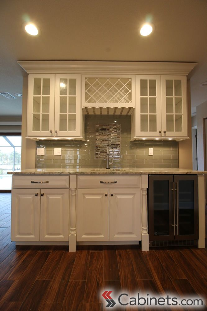Bright and elegant home bar designed with