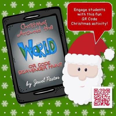 Christmas Around the World QR Code Scavenger Hunt! Enter for your chance to win. Christmas Around the World QR Code Scavenger Hunt (23 pages) from Jewel Pastor on TeachersNotebook.com (Ends on on 12-15-2014) Put your class' iPads or tablets to good use with this fun and exciting Christmas QR Code Scavenger Hunt activity!