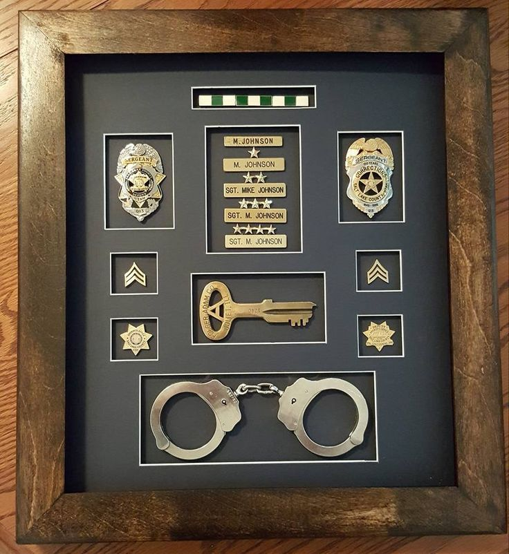 Made By Mike Johnson Correction Officer Shadow Box