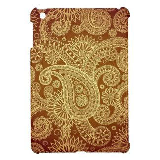 The Most Elegant Gold Paisley Pattern iPad Mini Cases #iPad #iPadmini #iPadcovers #iPadminicover #iPadminicase #iPadcase #patternipadminicase