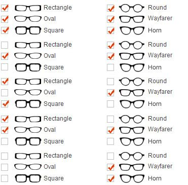 Round face glasses that fit best: Rectangle, square, wayfarer