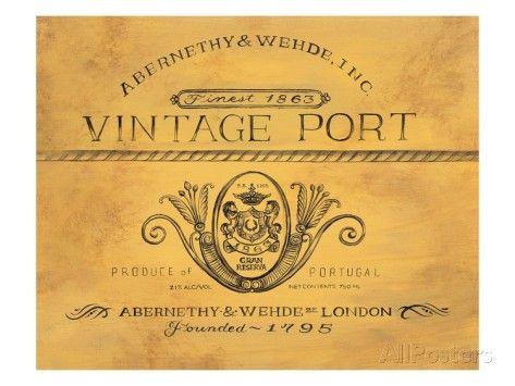 Vintage Port Prints by Angela Staehling at AllPosters.com
