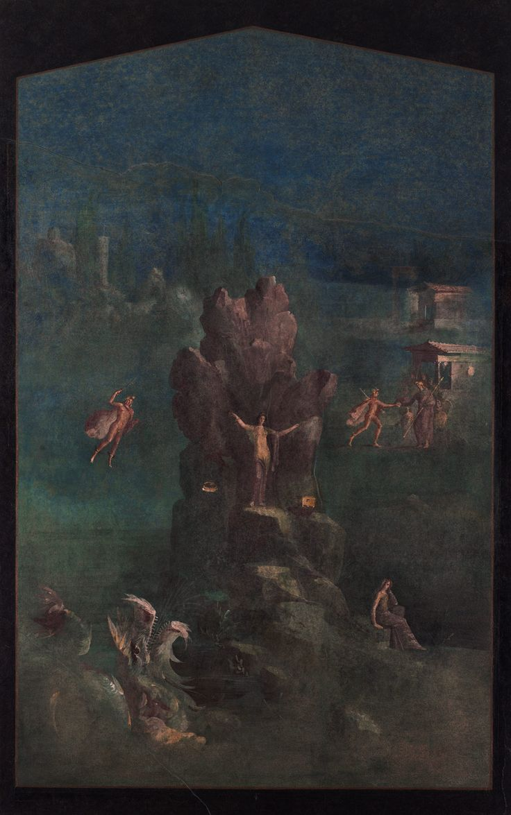 883 best roman frescoes images on pinterest roman art roman wall painting perseus and andromeda in landscape from the imperial villa at boscotrecase mural paintingwall paintingsroman