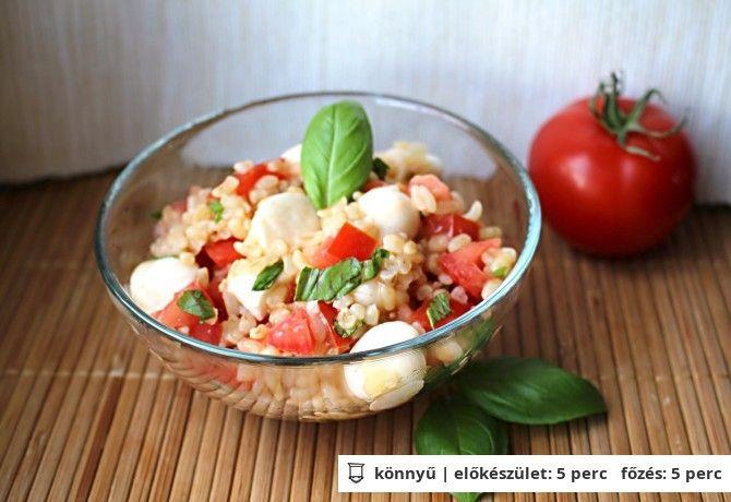 Mozzarellás bulgursaláta | NOSALTY – receptek képekkel