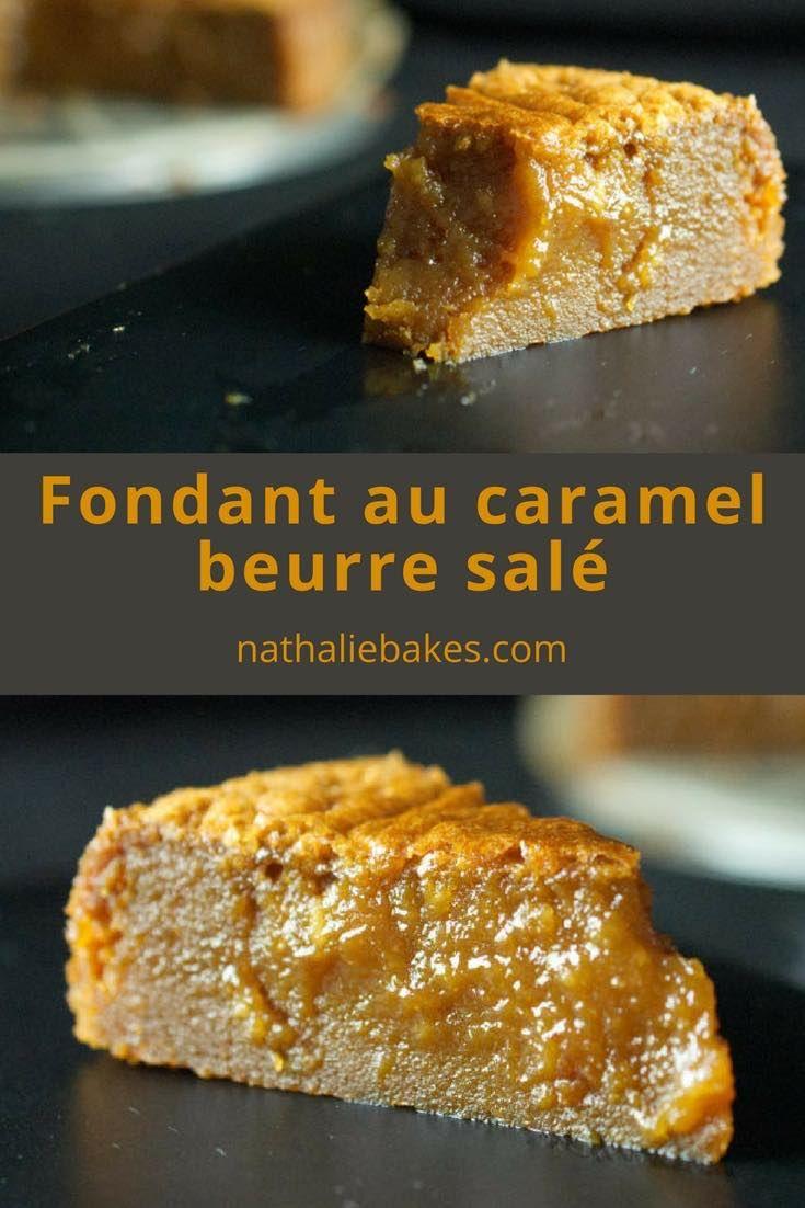 Fondant au caramel beurre salé au coeur coulant. Dessert ultra régressif pour les amateurs de caramel beurre salé! #caramel | nathaliebakes.com
