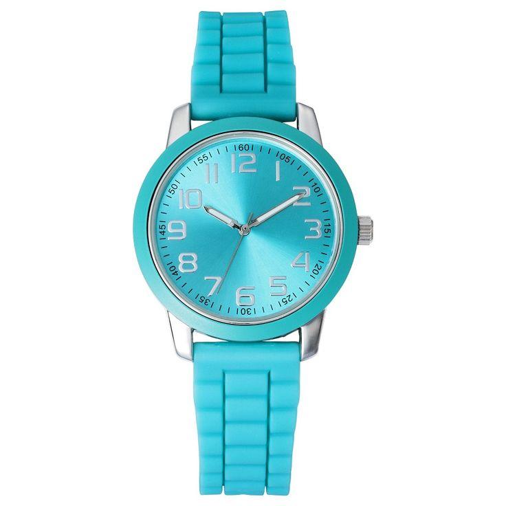 Women's Silicone Strap Watch - Green - Xhilaration