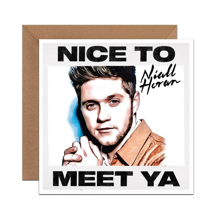 Niall Horan greeting card birthday thinking of you pencil ...