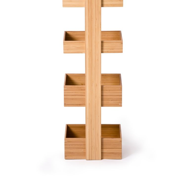 Suport pentru baie, 4 rafturi, Caddy Bamboo