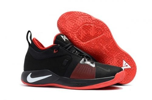 buy popular b9abe cf7f7 2018 Nike PG 2 Black and University Red-White For Sale
