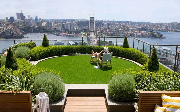91 migliori immagini balcone terrazzo su pinterest - Erba vera sul terrazzo ...