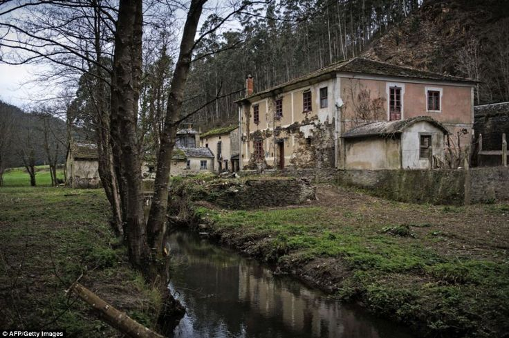 The village of Barrerios, near Pontevena is just one of 2,900 villages which lie abandoned...