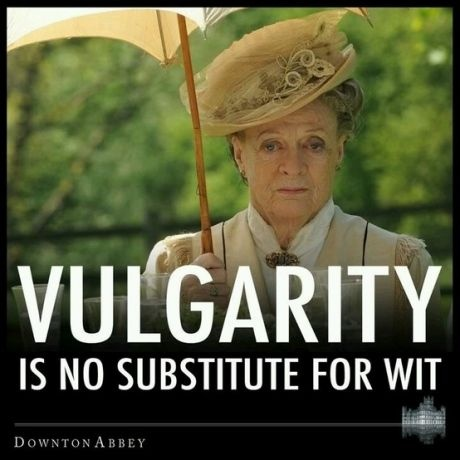 Yes!  This is for all who seem to think that the F word is an acceptable adjective....you are obviously witless.