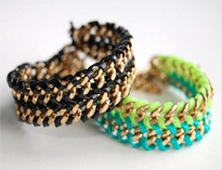 Lanyard and Chain BraceletJewelry Tutorials, Double Chains, Crafts Ideas, Wraps Bracelets, Chains Bracelets, Diy Fashion, Diybracelets, Diy Jewelry, Diy Bracelets