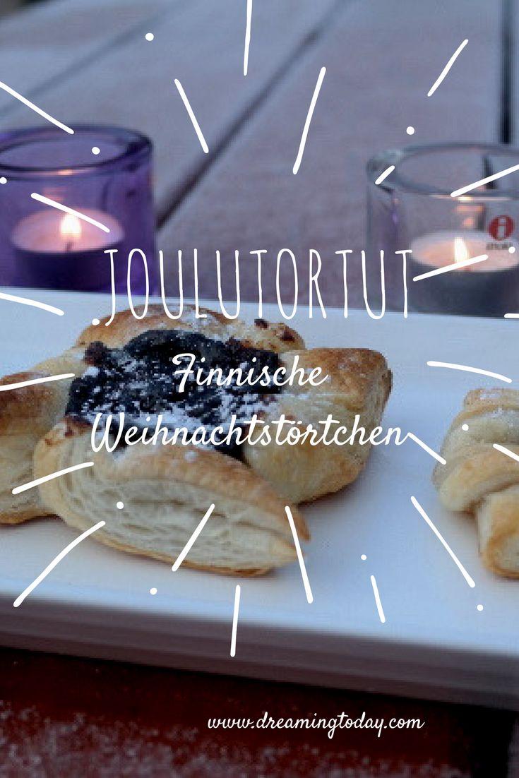 Joulutortut - ein Rezept für finnische Weihnachtstörtchen. Sie gehen schnell, denn man braucht nur wenige Zutaten (Blätterteig, Pflaumenmus) und dazu sind sie sehr lecker!