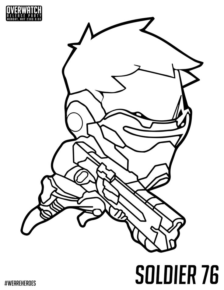 Pin by off the rhine on coloring pages pinterest for Overwatch genji coloring pages