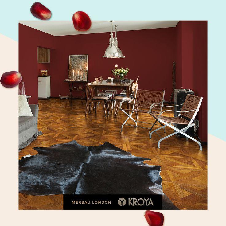 Another look for your Marsala Interior Theme : KROYA's very own Merbau London.  Details for this flooring on : www.kroyafloors.com  #interiordesign #architecture #interiordesigner #inteirordecor