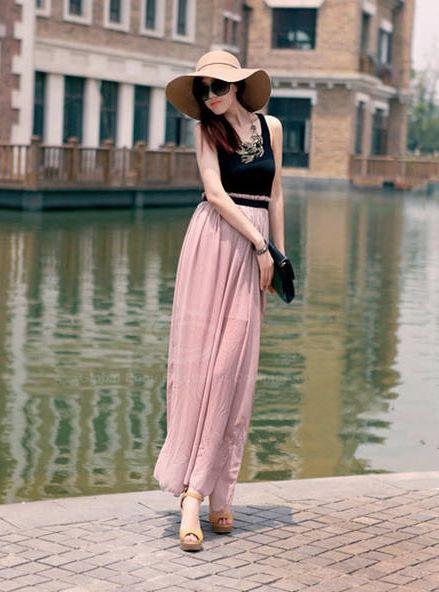 Ruffle Bohemian Style Color Block Elegant Ladylike Dress