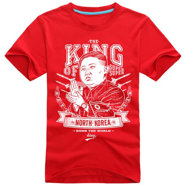 Is this for sale? If you wear that shirt, you receive world attention.   But, Kim was so angry, he shots you.