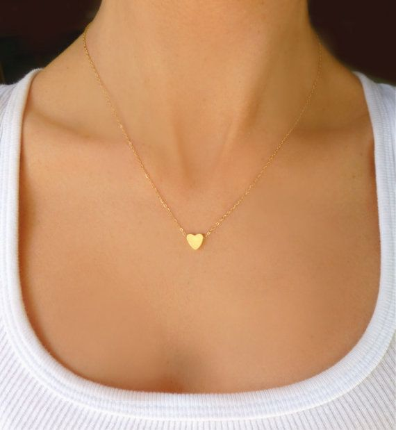 Hey, I found this really awesome Etsy listing at https://www.etsy.com/listing/177514603/tiny-heart-necklace-small-gold-heart