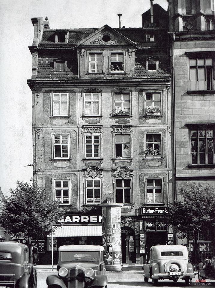 Wrocław - Północno-zachodni narożnik bloku śródrynkowego, kamienica nr 7-9, widok od zachodu (1935-1937)