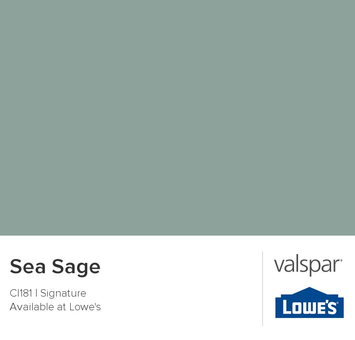 Sea Sage From Valspar Goes With Any Other Color Luv It