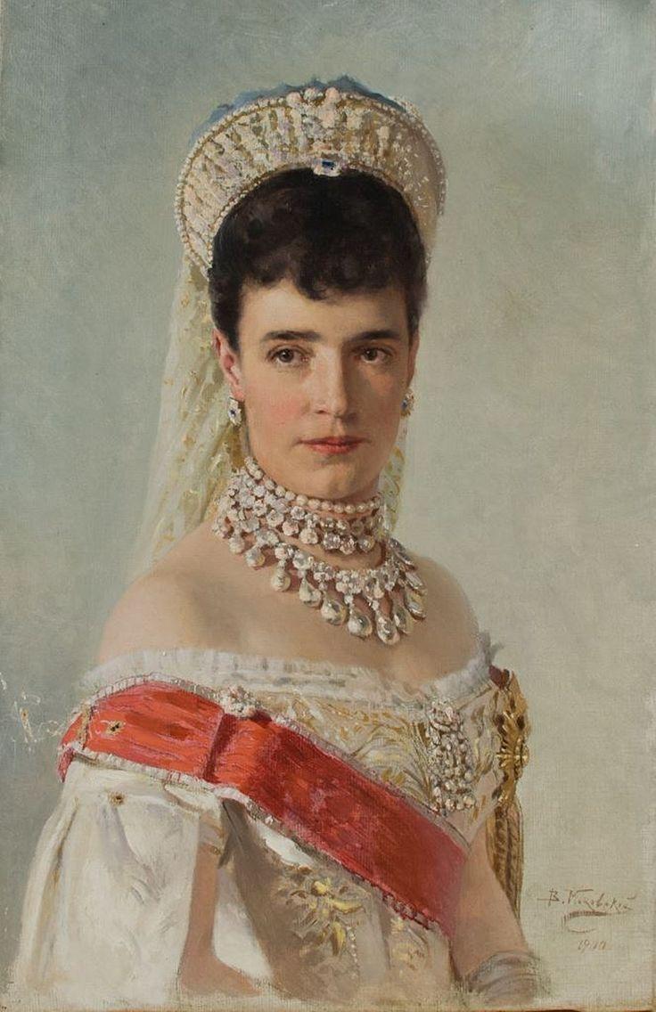 Dowager Empress Maria Feodorovna of Russia by VE Makovsky 1900