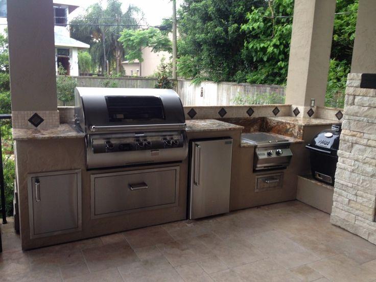 outdoor kitchen builtin turkey fryer - Google Search
