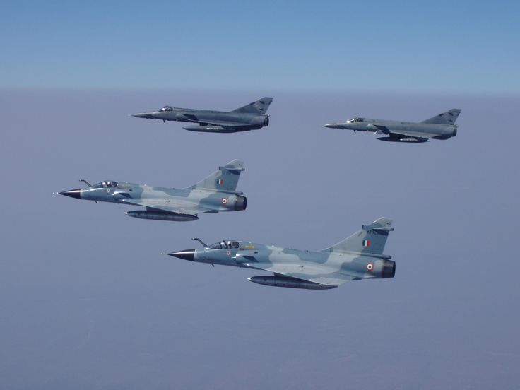 Indian Air Force Mirage 2000s fly with South African Air Force Atlas Cheetahs.