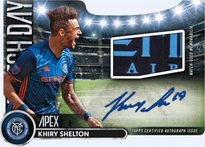 Topps Apex Match Day Die Cuts Auto Relics