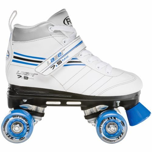 Roller Derby Girls' Laser 7.9 MX Quad Skates (White, Size 8) - Youth Skates Shoes at Academy Sports