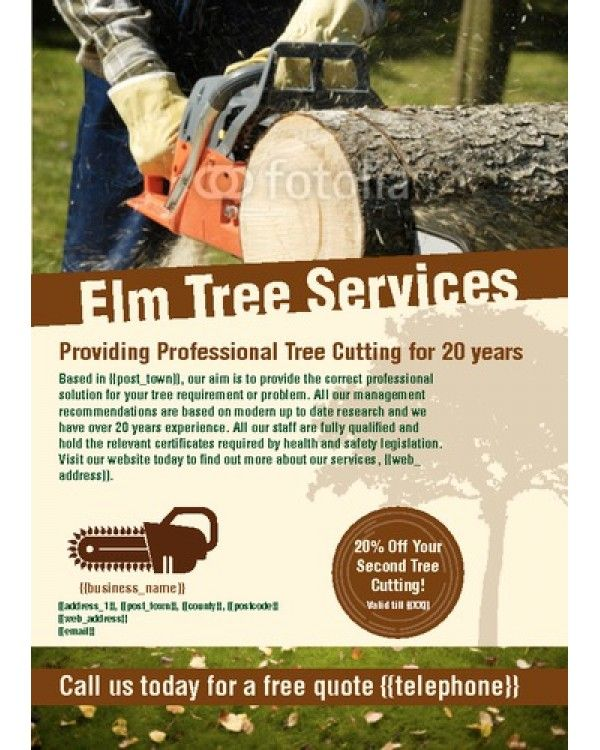 Tree Surgeon A6 Leaflets