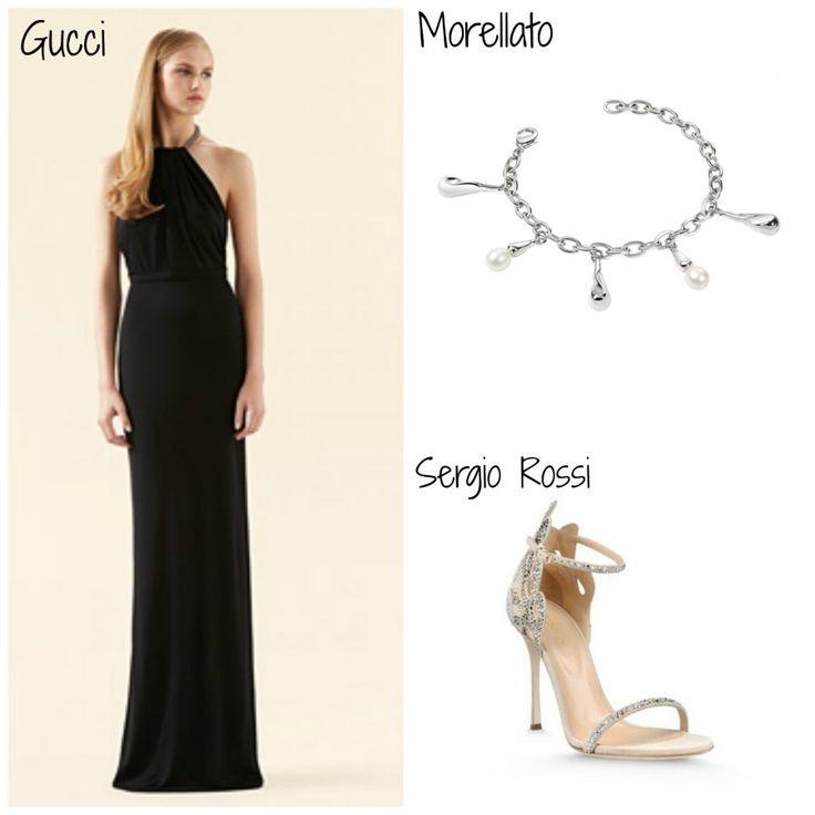 Come indossare un vestito nero lungo