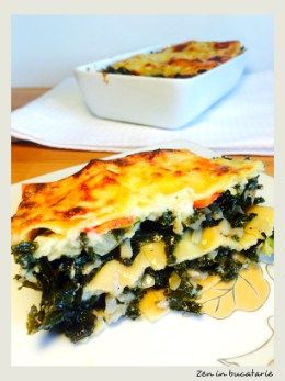 Lasagna vegetariana cu varza kale