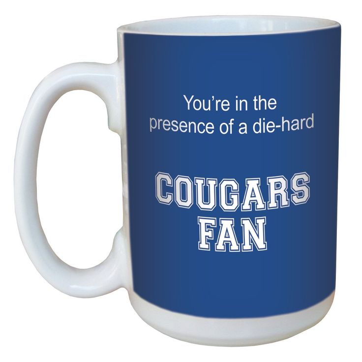 Tree-Free Greetings lm44395 Cougars College Football Fan Ceramic Mug with Full-Sized Handle, 15-Ounce