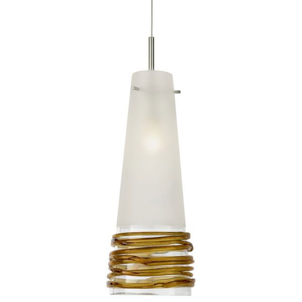 fili fj pendant is available in a satin nickel or dark bronze finish with satin shade and clear black or topaz glass accents a perennial favorite over the