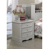 Found it at Wayfair Australia - Lucinda 3 Drawers Bedside in Ivory White