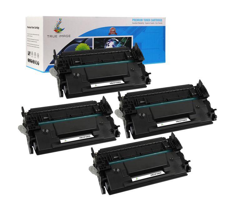 TRUE IMAGE HECF226X Black Toner Replaces HP CF226X (4-Pack)