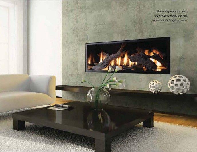 Linear Fireplace With Driftwood Fireplace Design Ideas Pinterest Linear Fireplace