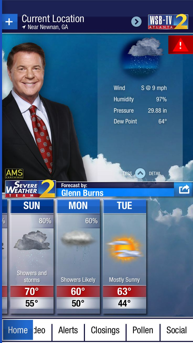 Forecast for Newnan, GA from the @WSBTV Channel 2 Weather App. Download at http://wsbtvweatherapp.com.