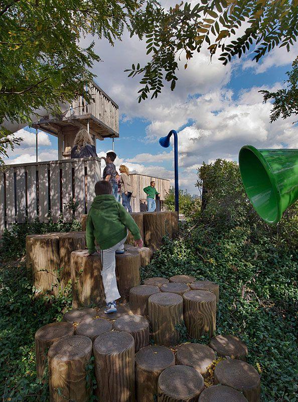 Playground Steps at Pier C, Brooklyn, NY I Michael Van Valkenburgh Associates, Inc.